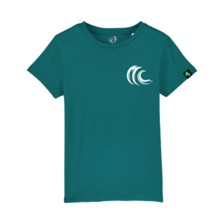 Kids wave logo organic t-shirt