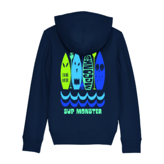Kids zip-through organic Monster SUP hoody
