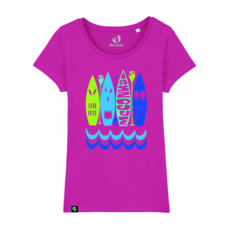 Ladies fitted organic SUP monster t-shirt