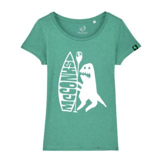 Ladies organic SUP dino t-shirt