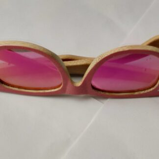 Kids HD polarised pink bamboo shades