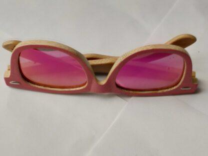Kids HD polarised pink bamboo shades