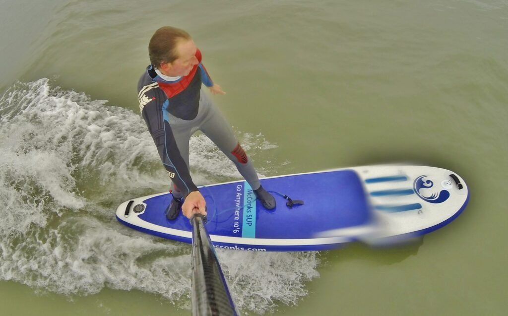 Can I SUP surf my McConks inflatable stand up paddle board?