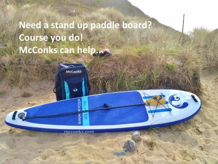 Need a stand up paddle board? Course you do! McConks can help…