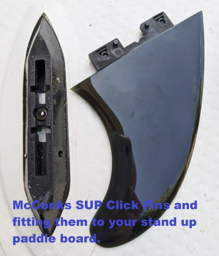 The easiest stand up paddle board fin system ever – McConks SUP Click Fins and how to fit.