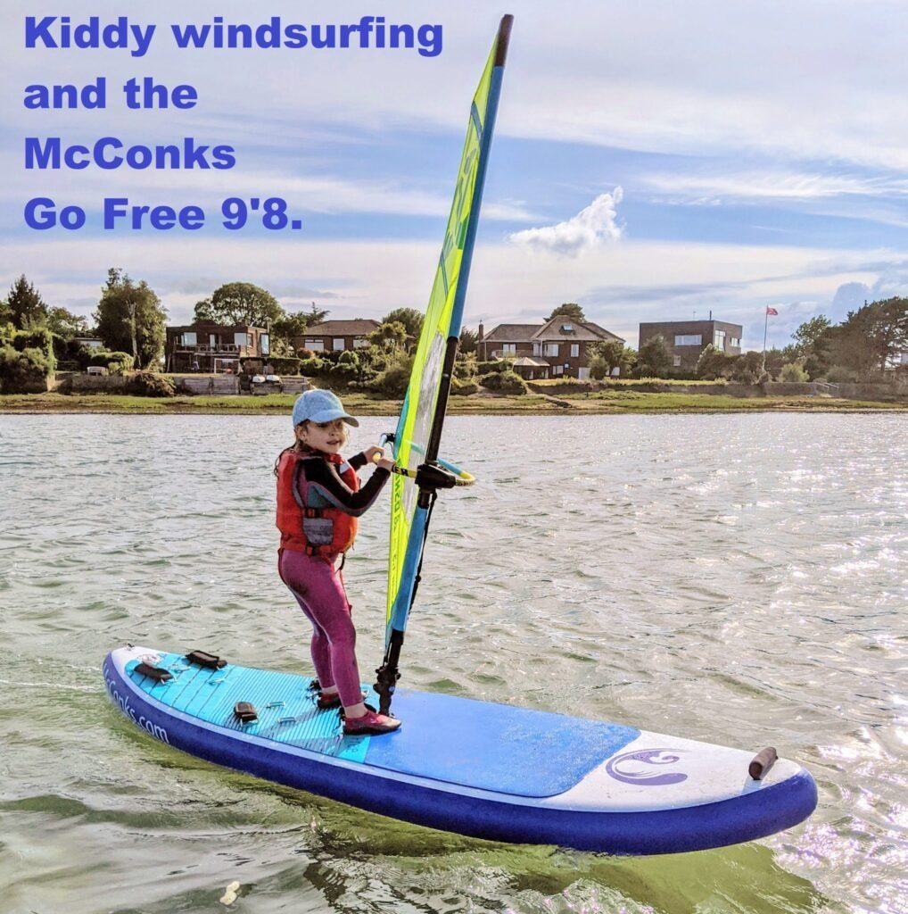 McConks windSUP/windsurf/wing surf/wing foil guide #6 – kiddy windsurfing and the McConks Go Free 9'8