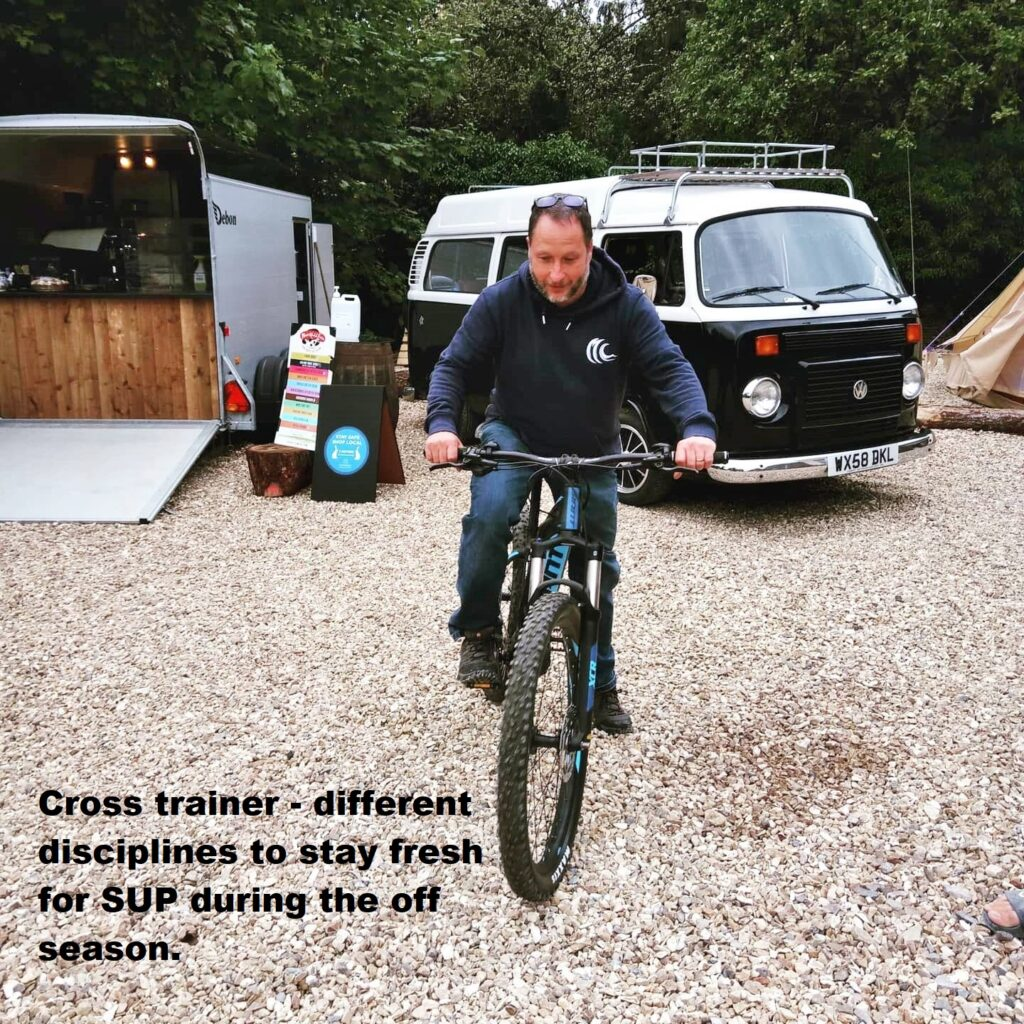 Cross trainer – different disciplines to stay fresh for SUP during the off season.