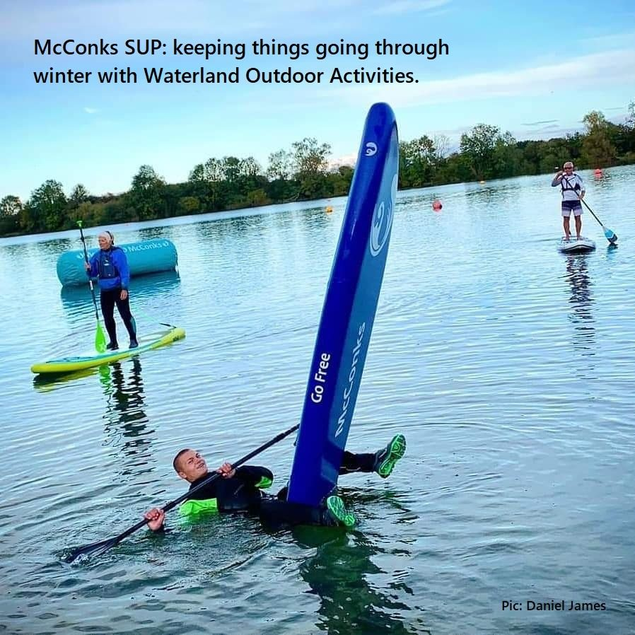McConks SUP: keeping things going through winter with Waterland Outdoor Activities.