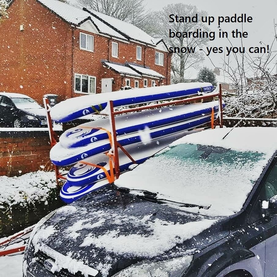 Stand up paddle boarding in the snow – yes you can!
