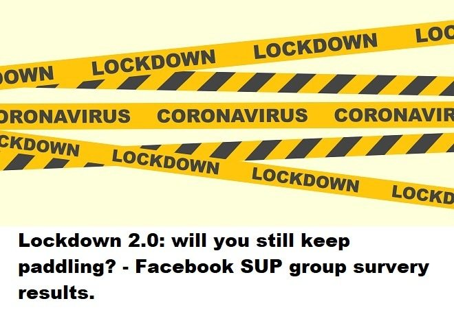Lockdown 2.0: will you still keep paddling? – Facebook SUP group survey results.