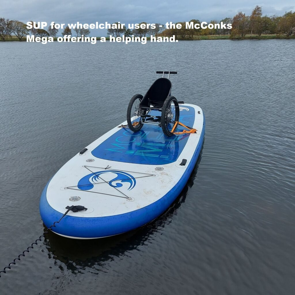 SUP for wheelchair users – McConks' Mega lending a helping hand.