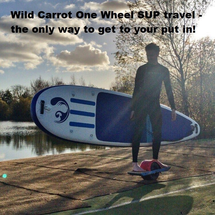 Wild Carrot One Wheel SUP travel – the only way to get to your put in!