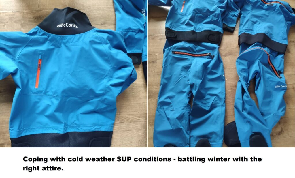 Coping with cold weather SUP conditions – battling winter with the right attire. (staying SUP safe).