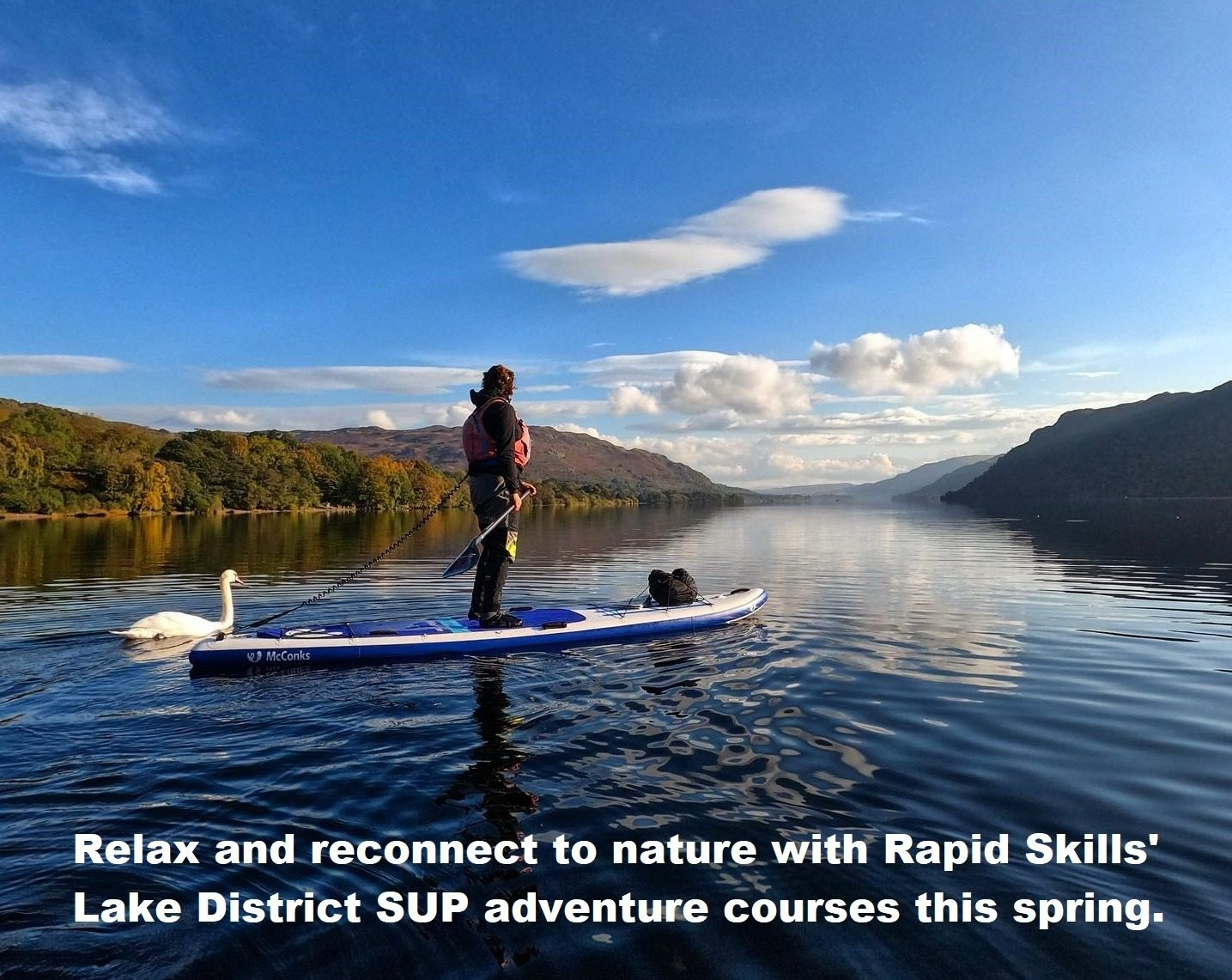 Relax and reconnect to nature with Rapid Skills' Lake District SUP adventure courses this spring.
