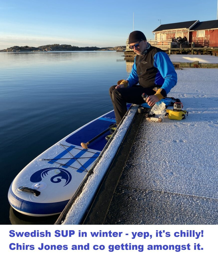 Swedish SUP in winter – yep, it's chilly! Chris Jones and co getting amongst it.