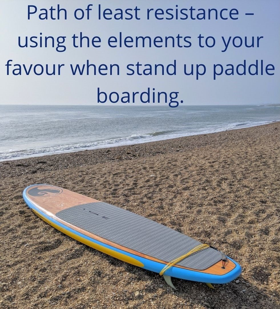Path of least resistance – using the elements to your favour when stand up paddle boarding.